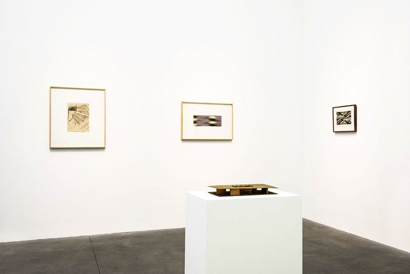 Installation view of 'Lygia Clark: Work from the 1950s' at Alison Jacques Gallery, London.
