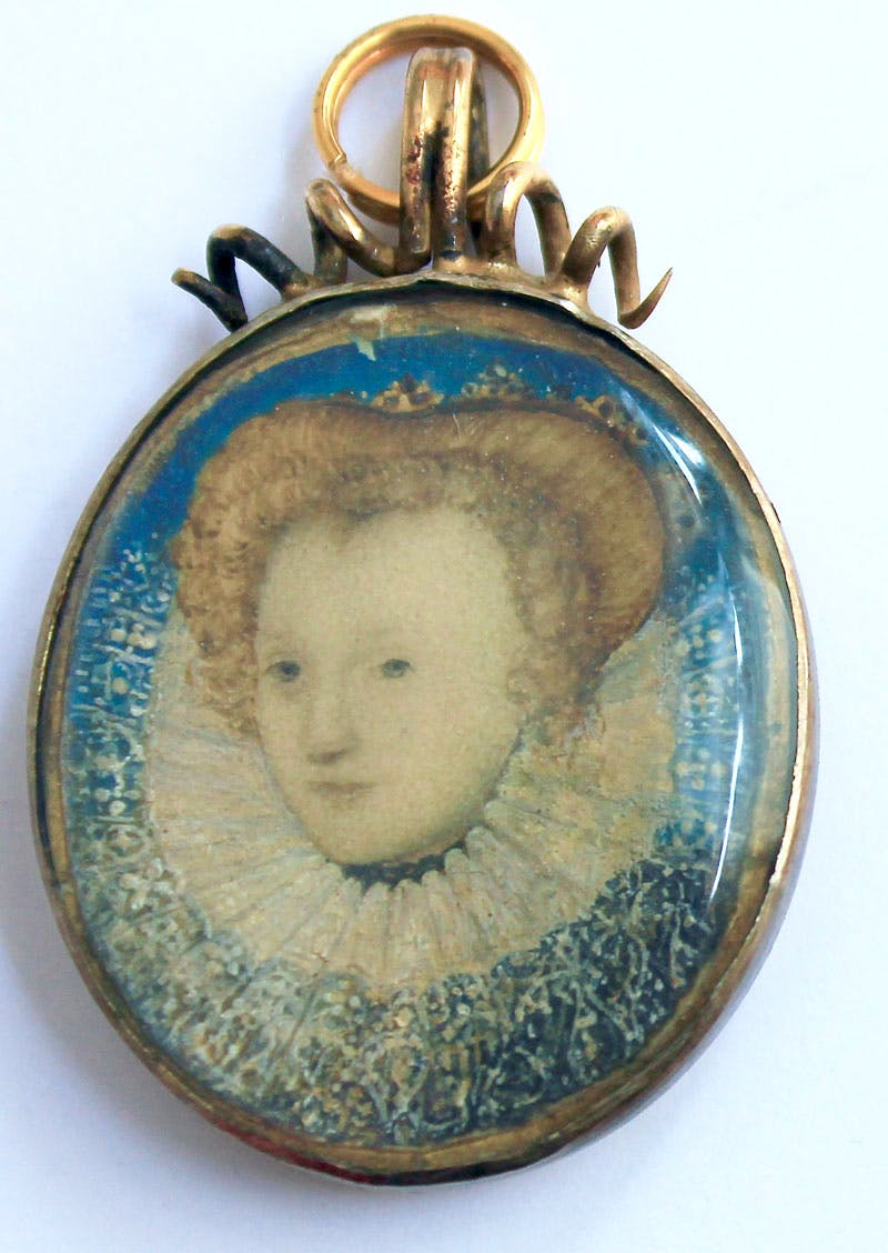 An intimate and minute portrait of Queen Elizabeth (c. 1586/87), Nicholas Hilliard.