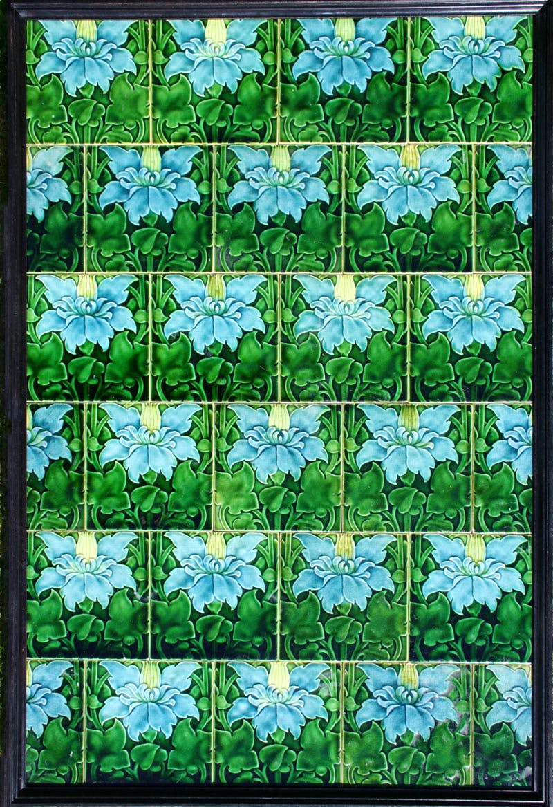 Art Nouveau tile panel (1902), Pilkington & Co., designed by Lewis F. Day.