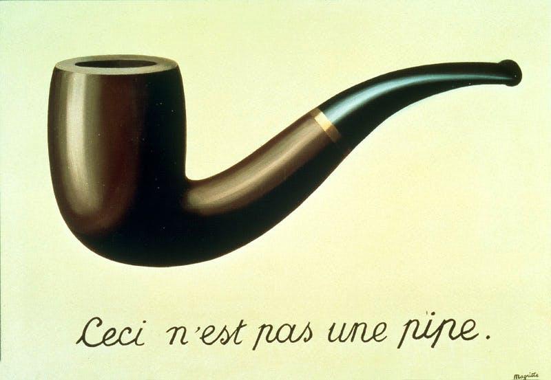 (1929), René Magritte, La Trahison des images (Ceci n'est pas une pipe)