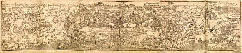 (1486), Bernhard von Breidenbach, Map of Jerusalem.