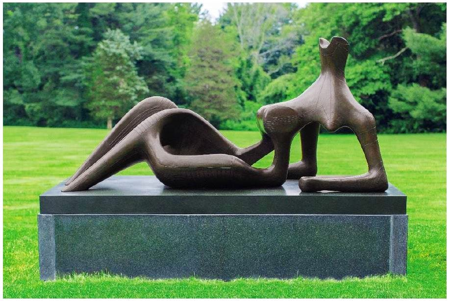 Reclining Figure: Festival, by Henry Moore, fetched £24.7 million at Christie's
