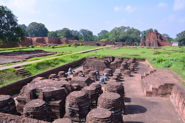 Excavated Remains of Nalanda Mahavihara: View of Site no. 03 from Site no. 12