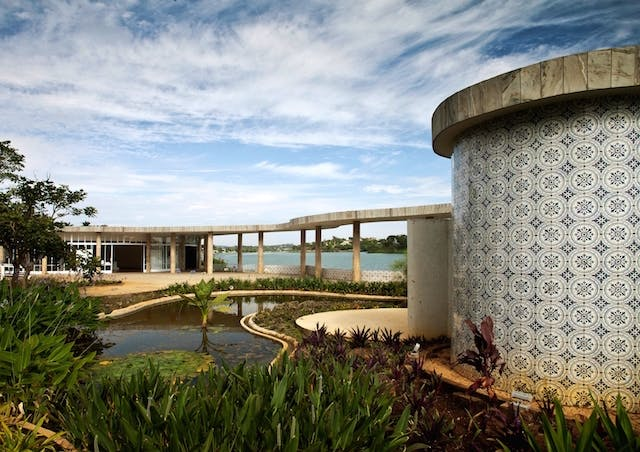 Pampulha Modern Ensemble, designed by Oscar Niemeyer, in Brazil