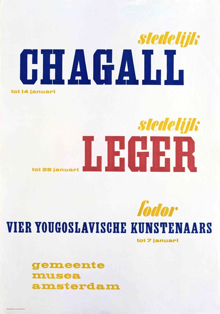 Exhibition poster (1956), Willem Sandberg.