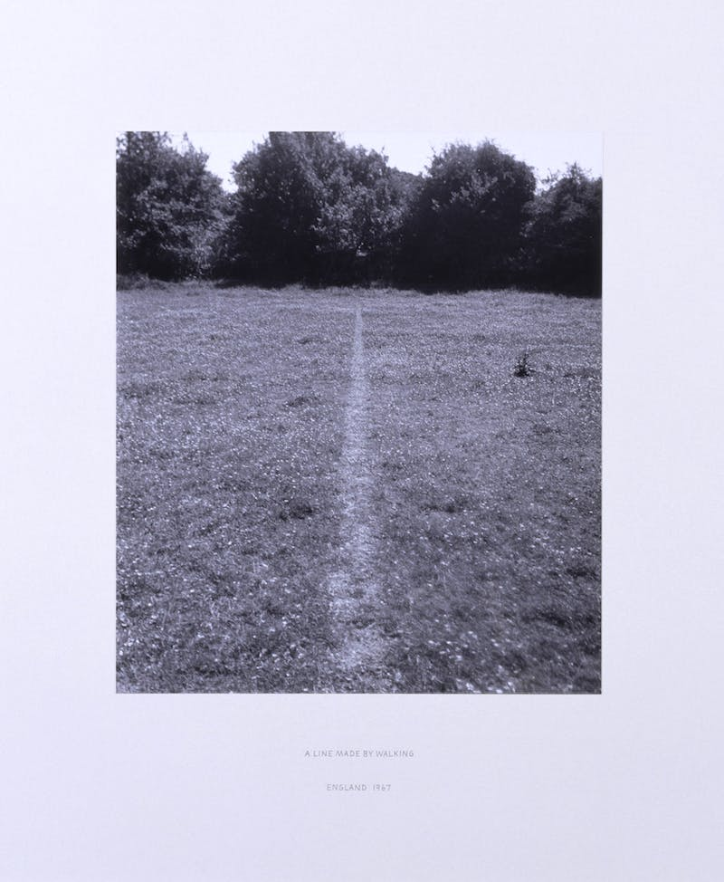 A Line Made by Walking (1967), Richard Long. © Richard Long / DACS, London