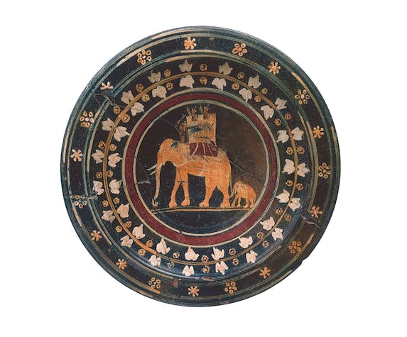 Plate with elephants, 3rd century BC, Greek.