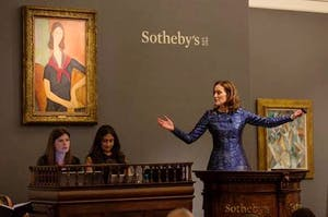 Helena Newman headed the Sotheby's Impressionist and Modern Sale on 21 June - but there were no works by women artists in the sale.