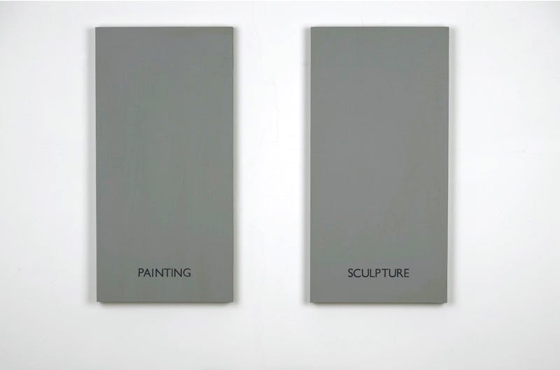 Painting / Sculpture (1966–67), Art & Language (Terry Atkinson and Michael Baldwin).