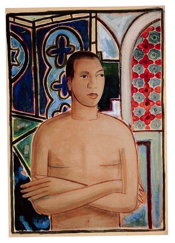 Self-Portrait, II, (1938), Wifredo Lam.