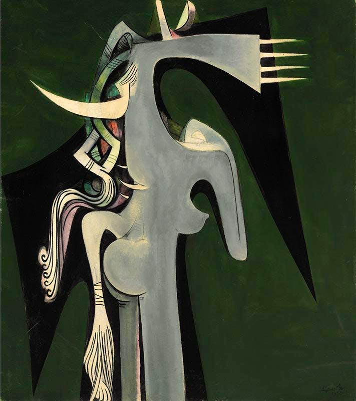 Horse-Headed Woman, Wifredo Lam.