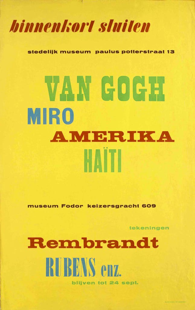 Exhibition poster (1949), Willem Sandberg. Photo: Stedelijk Museum, Amsterdam