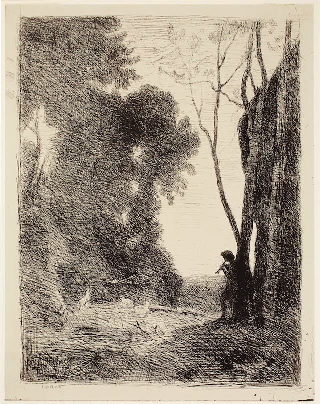 The Little Shepherd, 2nd Plate, plate 7 of 40 from the portfolio Forty Clichés Verre
