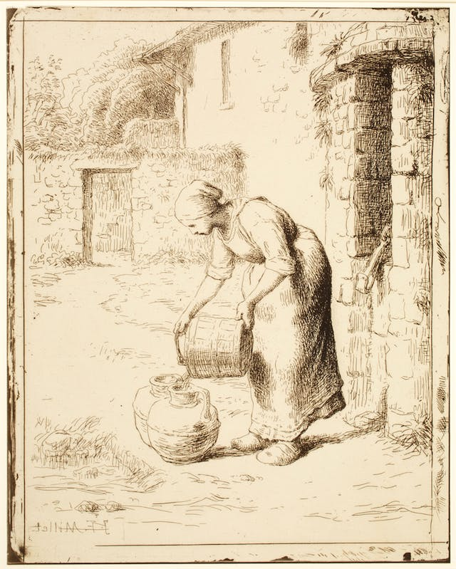 Woman Emptying a Bucket, plate 38 of 40 from the portfolio Forty Clichés Verre