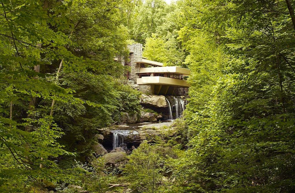 Fallingwater, also known as the Edgar J. Kaufmann Sr. Residence.