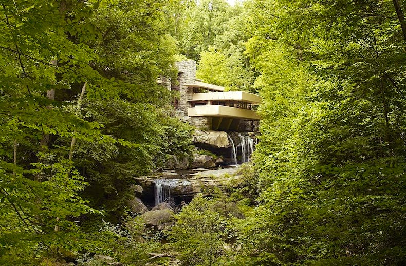 Fallingwater, also known as the Edgar J. Kaufmann Sr. Residence.