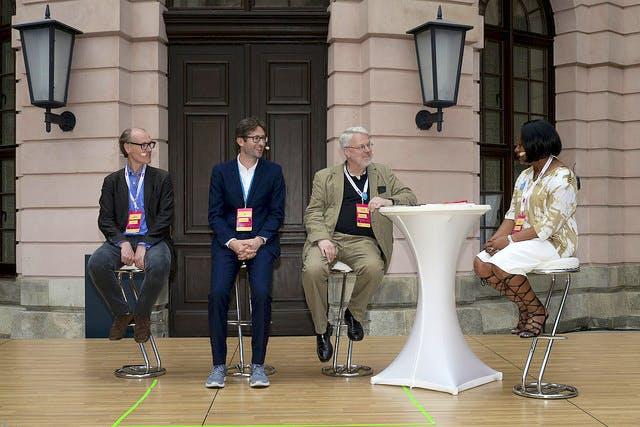 Jennifer Francis in conversation with Will Gompertz, Javier Pes, Editor, Bernhard Schulz