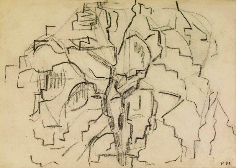 Tree study (1913), Piet Mondrian. British Museum