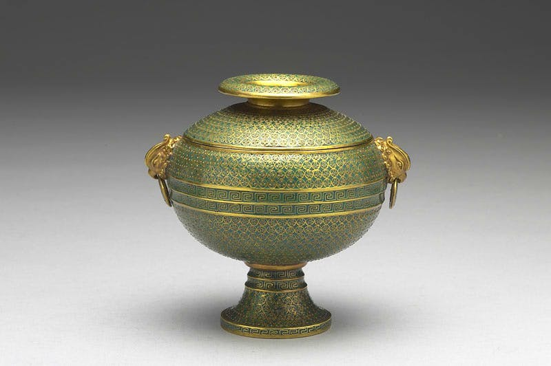 Ritual dou vessel with phoenix-shaped handles (Qing dynasty, reign of Emperor Yongzheng: 1723–35), by the Imperial Workshop, Beijing. Photo: © National Palace Museum, Taipei