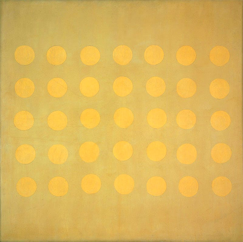 Buds (c. 1959), Agnes Martin. © 2015 Agnes Martin/Artists Rights Society (ARS), New York