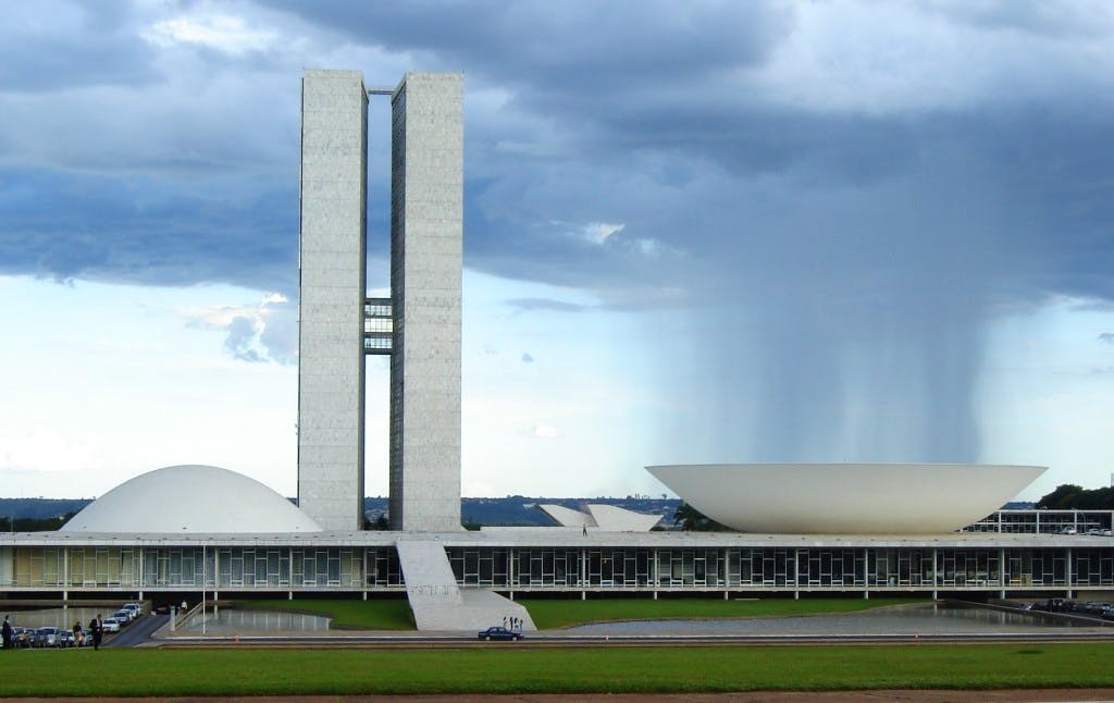 National Congress Building in Brasília, designed by Oscar Niemeyer and completed in 1960.