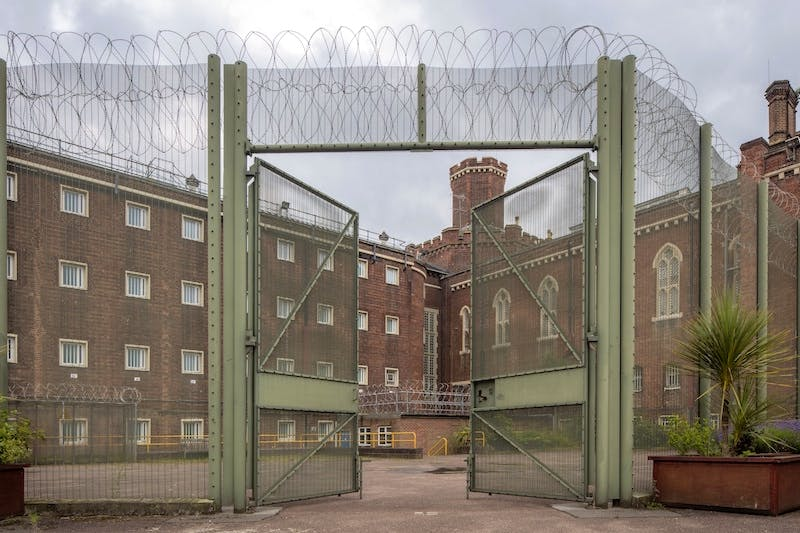 The exterior of Reading Prison