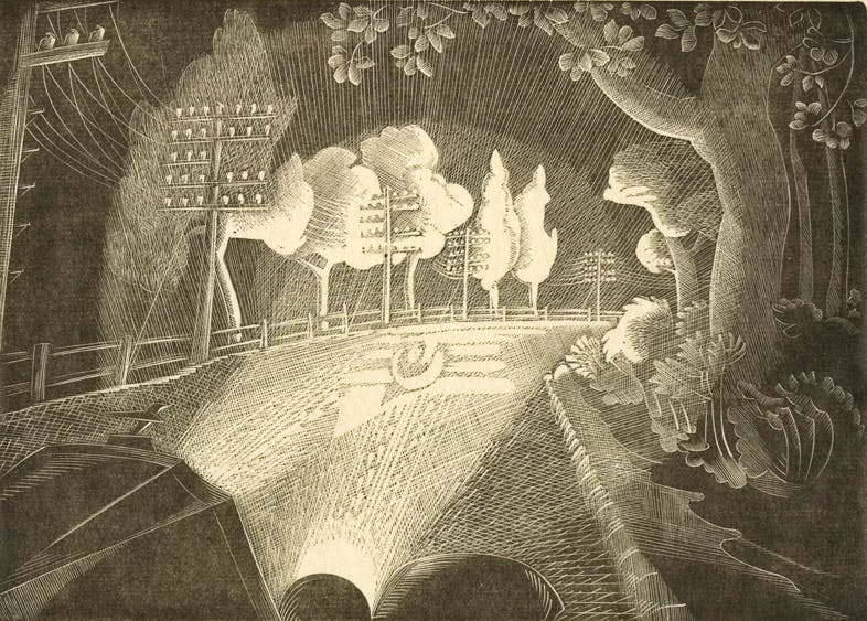 Through the Windscreen (1929), Gertrude Hermes.