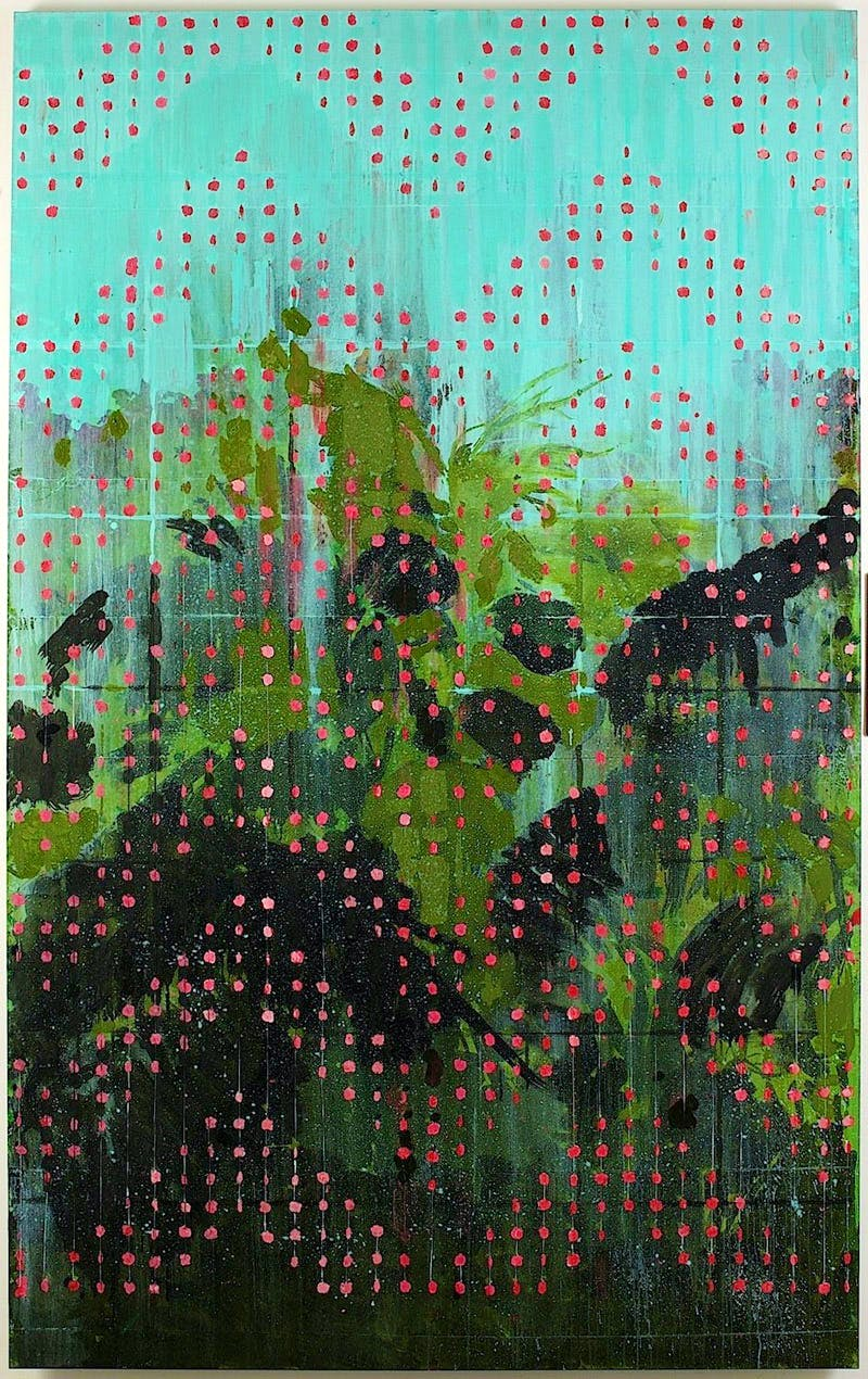 Beaded Curtain – Red Apples (2010), Hurvin Anderson.