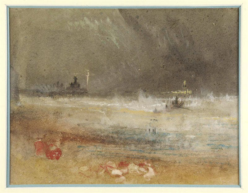 Storm off the east coast (c. 1835), J.M.W. Turner