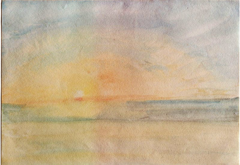 Sunset over the sea (c. 1840–45), J.M.W. Turner.