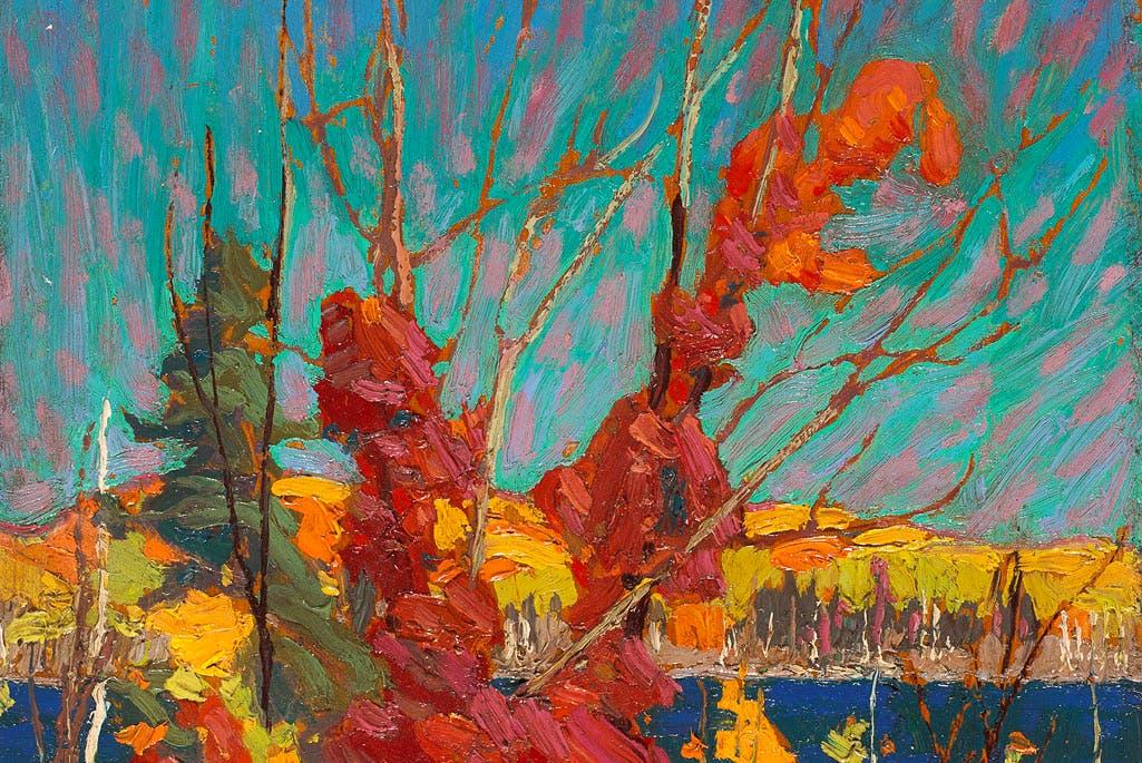 Autumn Foliage (detail; 1916), Tom Thomson. The National Gallery of Canada, Ottawa