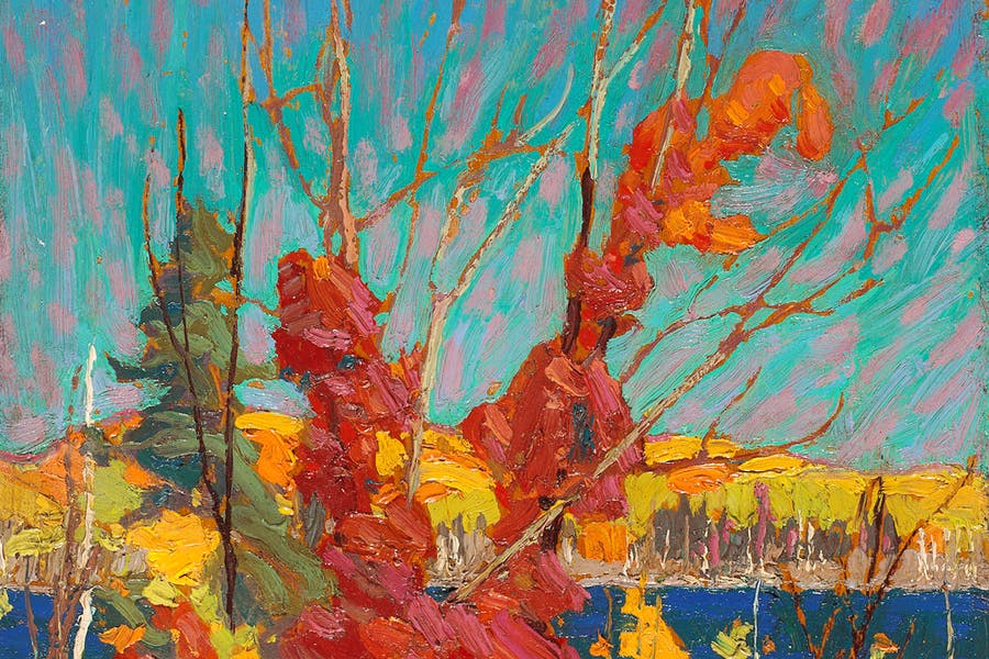 Autumn Foliage (detail; 1916), Tom Thomson. The National Gallery of Canada, Ottawa