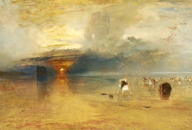 Calais sands at low water – Poissards collecting bait (1830), J.M.W. Turner.