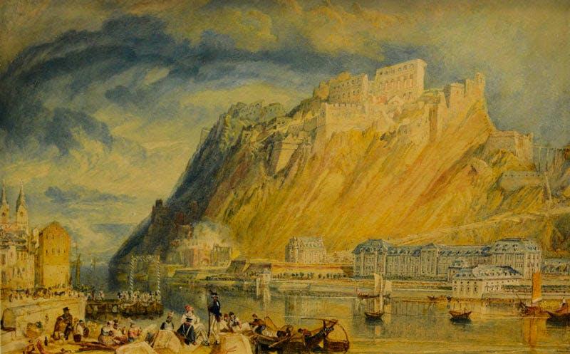 Ehrenbreitstein during the demolition of the fortress (1819–20), J.M.W. Turner.