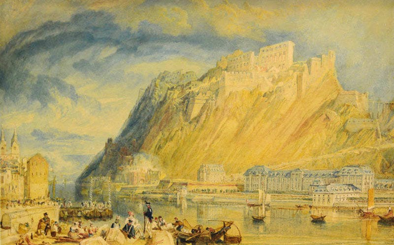 Ehrenbreitstein during the demolition of the fortress (1819–20), J.M.W. Turner.