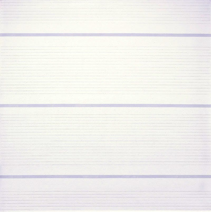 Untitled #15 (1988), Agnes Martin. © 2015 Agnes Martin/Artists Rights Society (ARS), New York