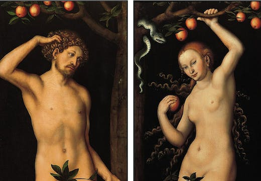 Adam and Eve (around 1530) by Lucas Cranach