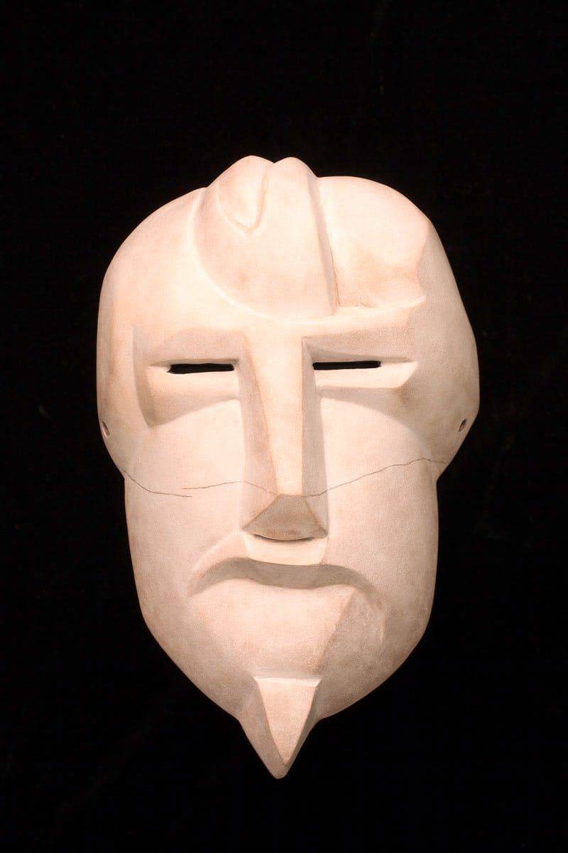 At Twilight / Mask of Ezra Pound (After Henri Gaudier-Brzeska)