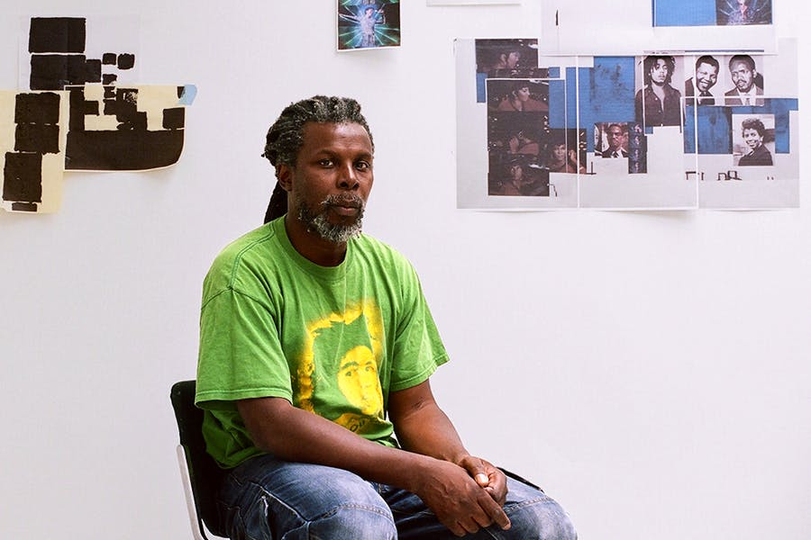 Hurvin Anderson photographed in his studio in London in August 2016. Photo by Jooney Woodward