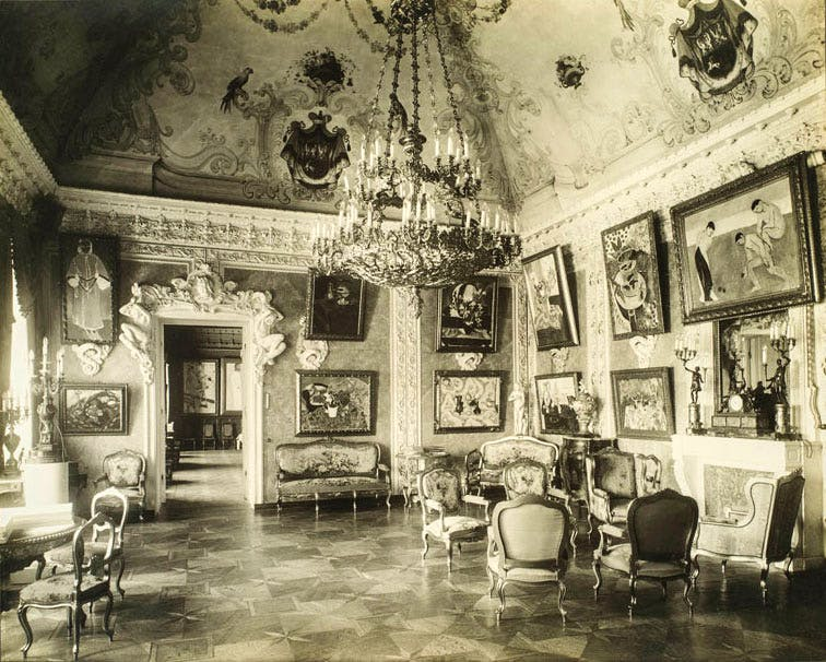 Pink Drawing Room (known as the Matisse Room), in Sergei Shchukin's house, the Trubetskoy Palace, Moscow.