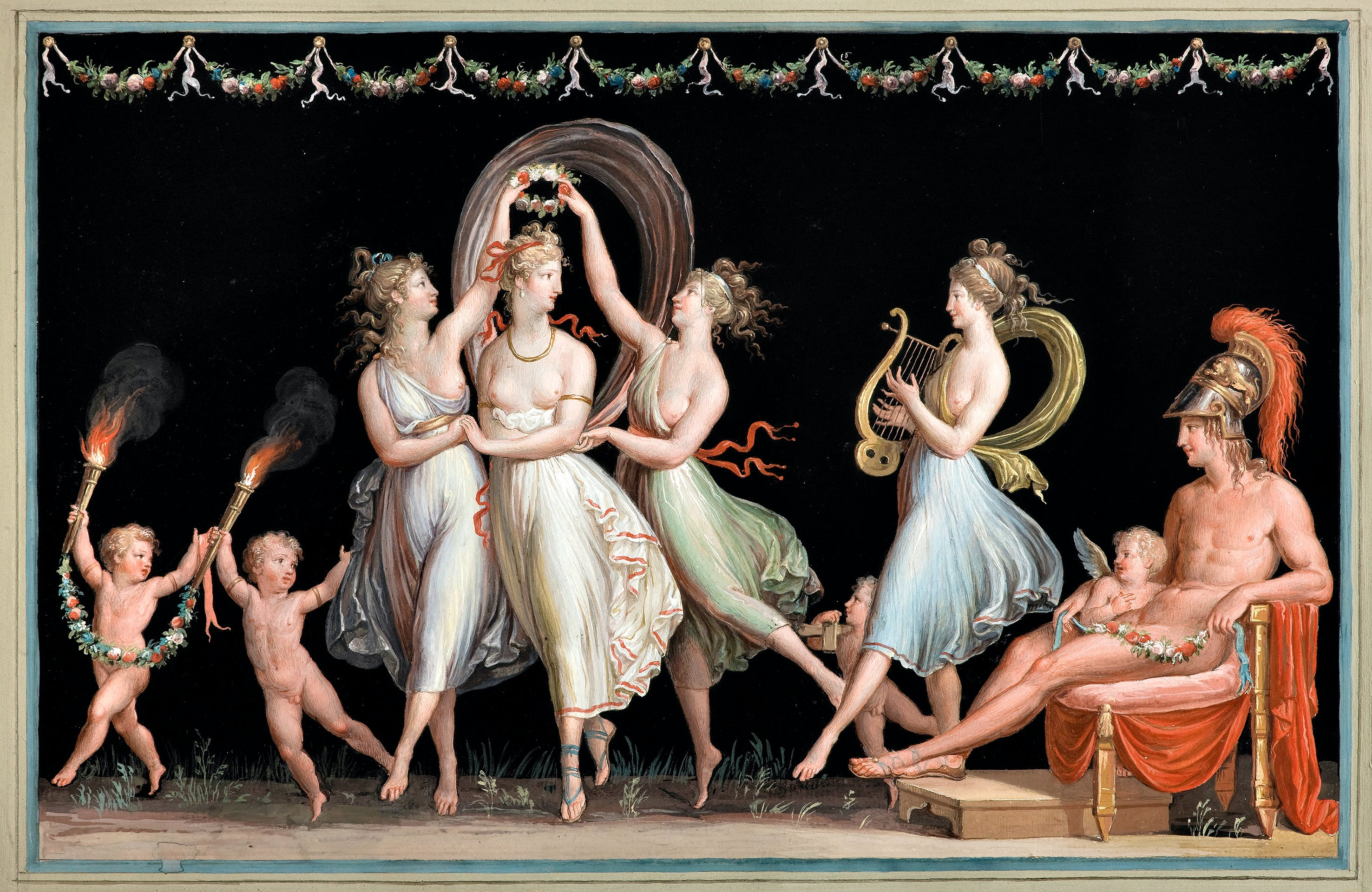 The Graces and Venus dancing in front of Mars (1799), Antonio Canova. © Museo e Gipsoteca Antonio Canova, Possagno (Treviso)