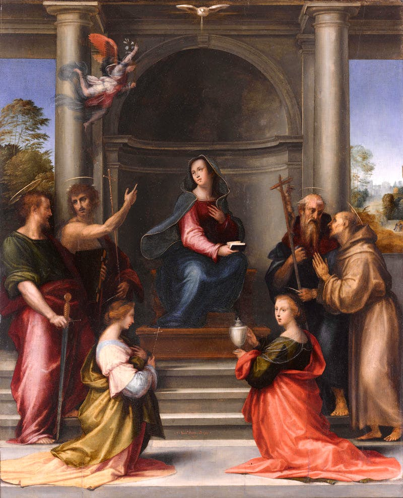 The Incarnation of Christ (Enthroned Virgin Surrounded by Six Saints)