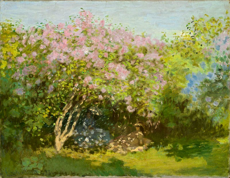 Lilas au soleil (1872–73), Claude Monet. Pushkin State Museum of Fine Arts, Moscow