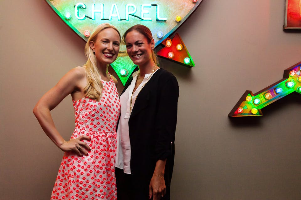 Mieka Sywak and Rebecca Davies at the Apollo 40 Under 40 party, in association with Sophie Macpherson Ltd.
