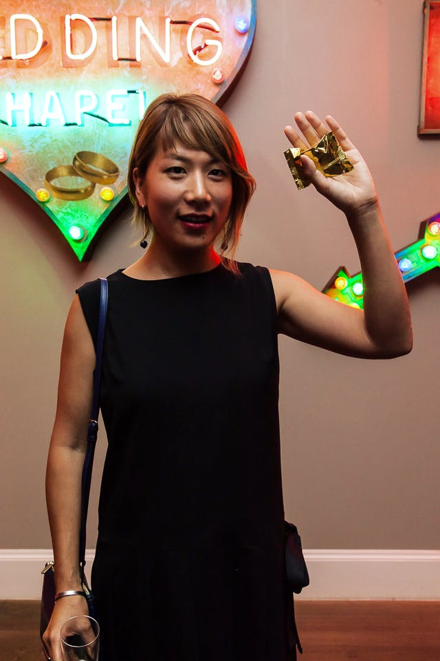 40 Under 40 artist Yuko Mohri at the Apollo 40 Under 40 party, in association with Sophie Macpherson Ltd.