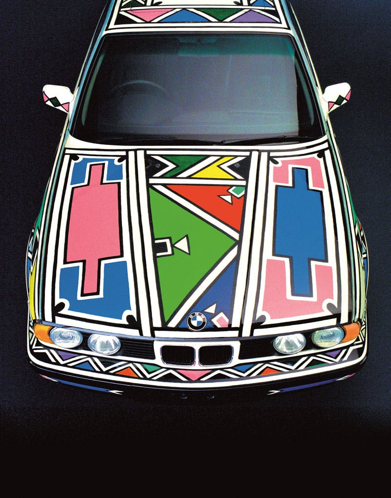 BMW Art Car 12 (1991), Esther Mahlangu. © The artist. Photo © BMW Group Archives