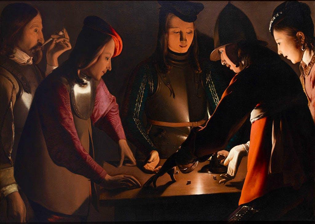 Dice Players (c. 1650–51), Georges de La Tour and Studio. © Preston Park Museum and Grounds