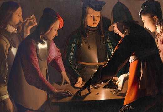 Dice Players (c. 1650–51), Georges de La Tour and Studio. © Preston Park Museum and Grounds