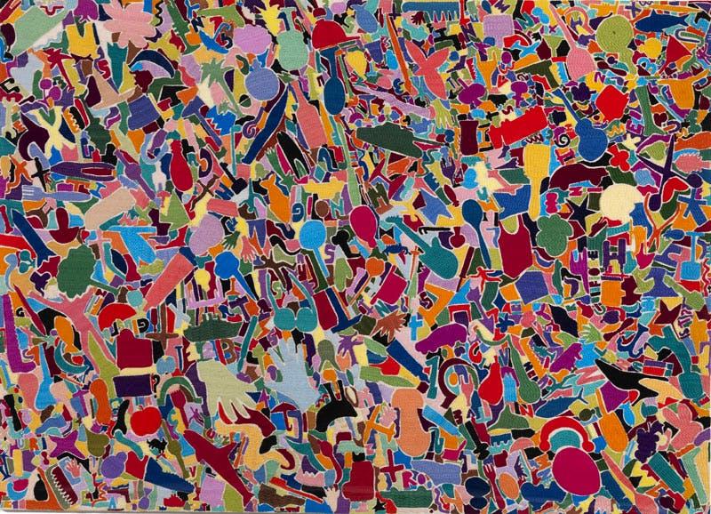 Tutto (1988–89), Alighiero Boetti. Courtesy Tornabuoni Art