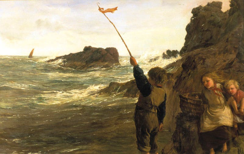 Caught by the Tide (1898), James Clarke Hook.